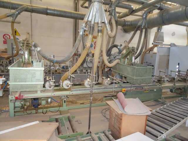 Barberan Double Cross Cut Saw for Profile Strips - second-hand PLC 150/250 (1)