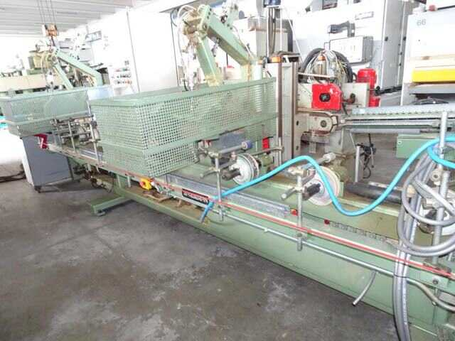 Barberan Double Cross Cut Saw for Profile Strips - second-hand PLC 150/250 (3)
