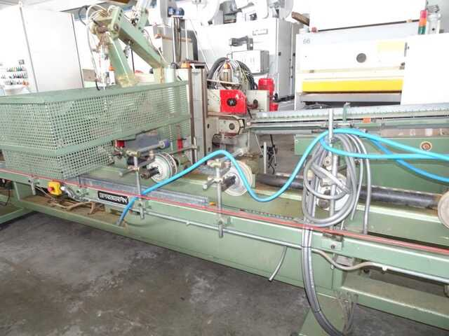 Barberan Double Cross Cut Saw for Profile Strips - second-hand PLC 150/250 (5)