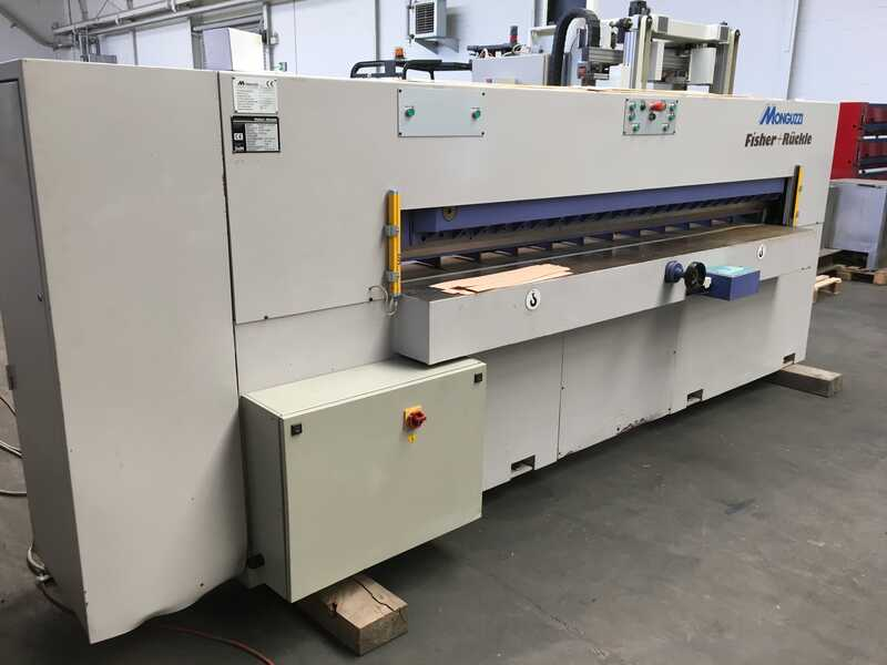 Fisher + Rückle Single Knife Veneer Guillotine - second-hand AFECO 2800 (1)
