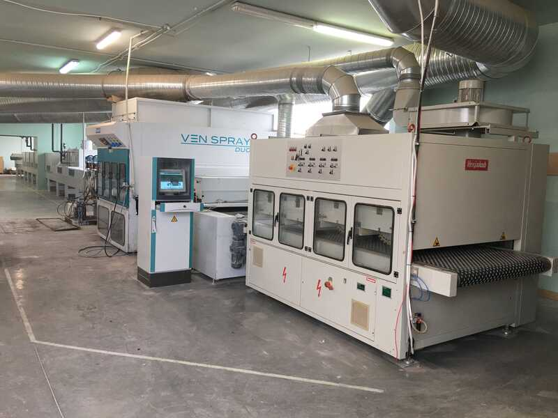 Venjakob Complete UV-Spray Painting Line - second-hand main picture