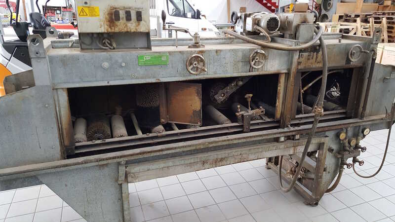 Schiele Impregnating System / Flood Machine with Brush Expeller - second-hand (1)