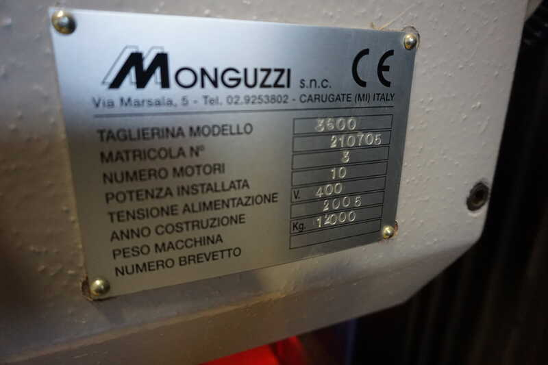 Monguzzi Double Knife Veneer Guillotine - second-hand TRM 2 L 3600 (25)