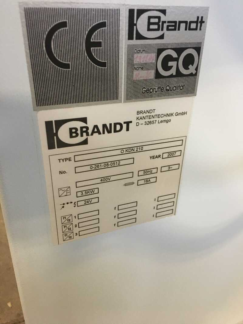 Brandt Compact Edge Bander - second-hand Optimat KDN 210 (7)