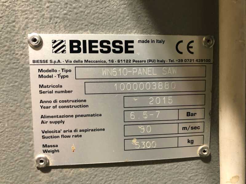 Biesse / Selco Panel Beam Saw / Panel Storage - second-hand WN 610 + Winstore (6)